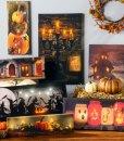 Light Up Canvas Halloween Fall