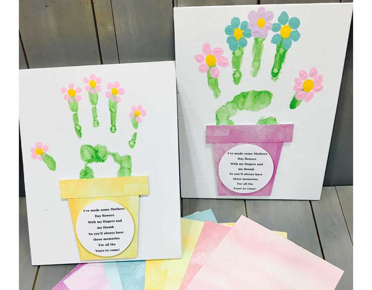Handprint Flower w/Poem @ Hazel Dell Location | Vancouver | Washington | United States