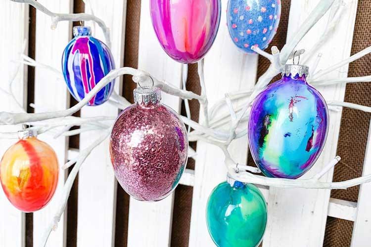 Alcohol OR Glitter Egg Ornament