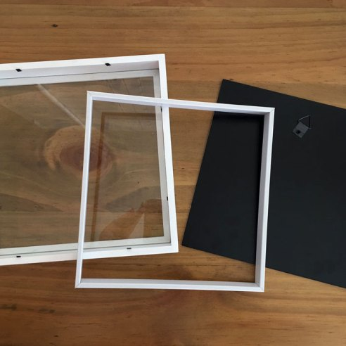 Inside the Shadow Box frame for Project - Craft Warehouse
