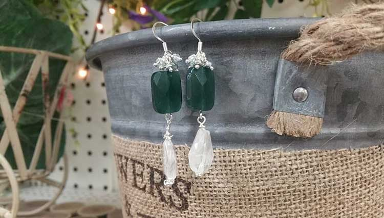 Jewelry Workshop - Emerald & Crystal Earrings @ Medford Location | Medford | Oregon | United States