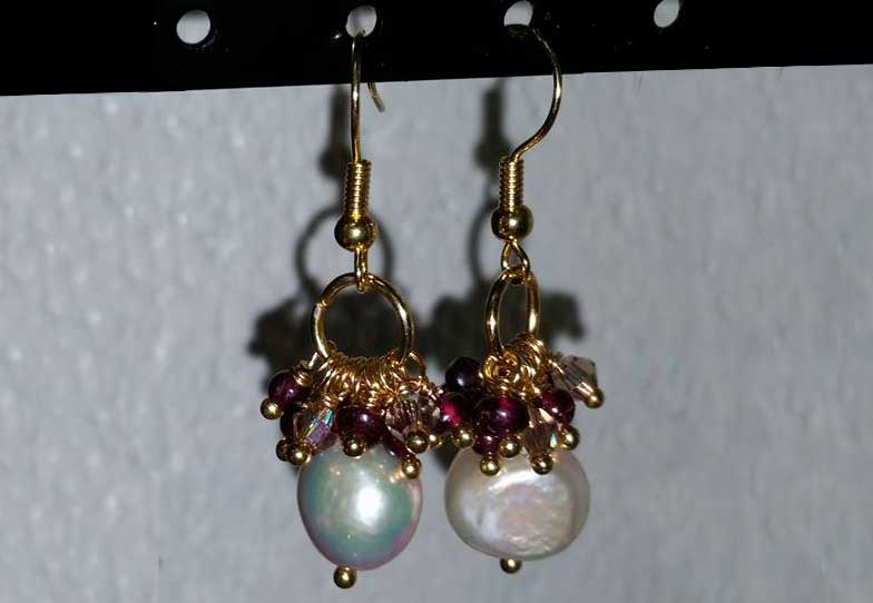 Jewelry Workshop - Garnet and Pearl Earings @ Medford Location | Medford | Oregon | United States
