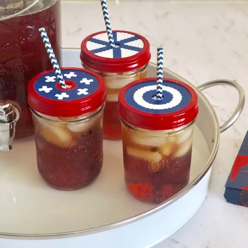 Perler Bead Drink Covers 4th of July