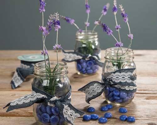 Mason Jar, Vase, Lavender
