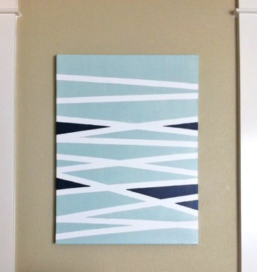 Make a Art Piece with paint and framers tape