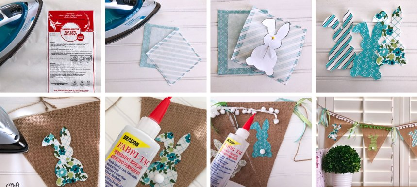 How to Make a Burlap Bunny Pennant