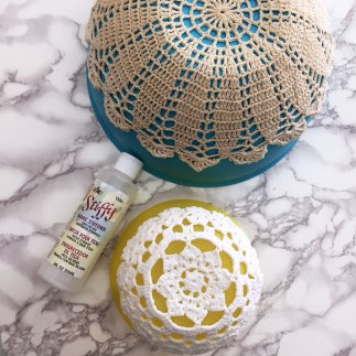 Making Doily Bowls from Craft Warehouse