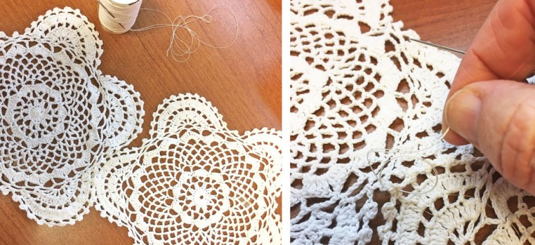 How to stitch together doilies for a table runner - Craft Warehouse