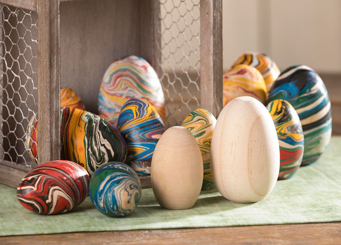 Marble Wooden Eggs at Craft Warehouse