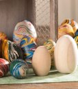 Marble Wooden Eggs