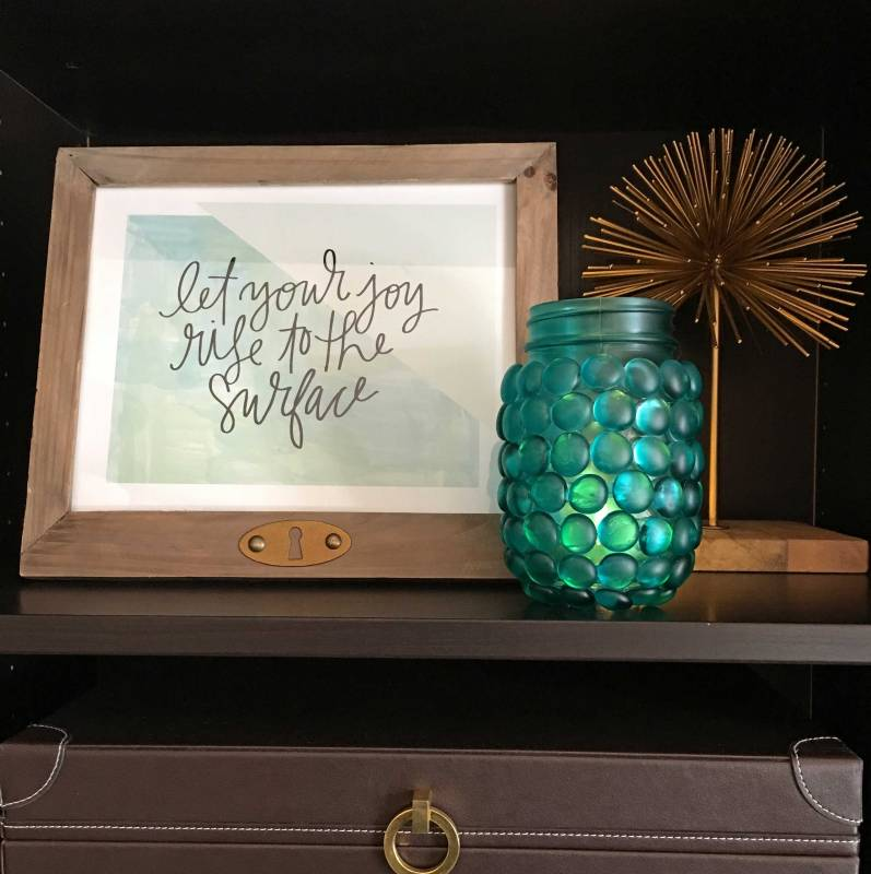Make this Tinted Glass Marble Mason Jar from Craft Warehouse