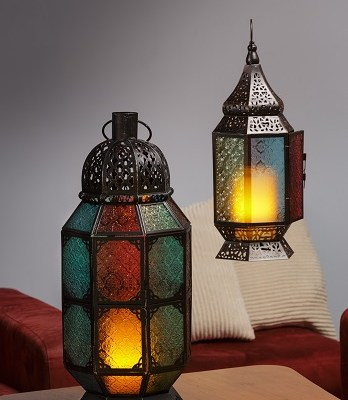 Moroccan Glass and Iron Lanterns