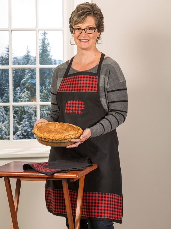 Make this Buffalo Plaid No Sew Apron from Craft Warehouse
