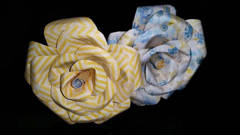 Paper rose make take medford or for Oregon craft floral