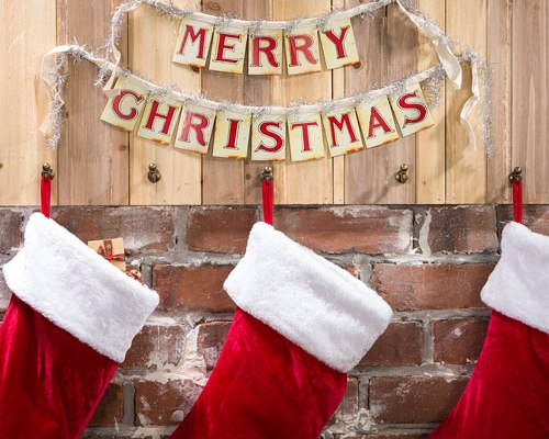 """Paper """"Merry Christmas"""" Banner"""