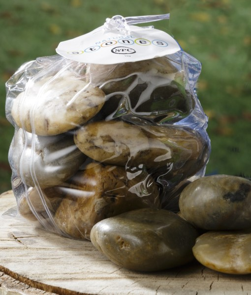 Bag of Smooth River Rocks