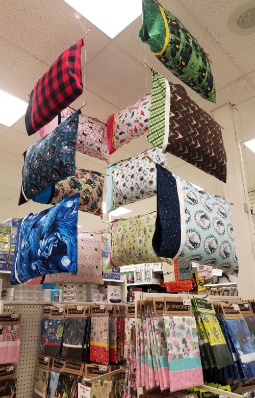 Pillowcase Kit Display in Salem store