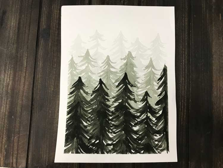Pine Tree Watercolor @ Vancouver Location | Vancouver | Washington | United States
