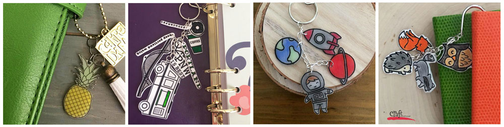 Shrinky Dink Charms for Planners