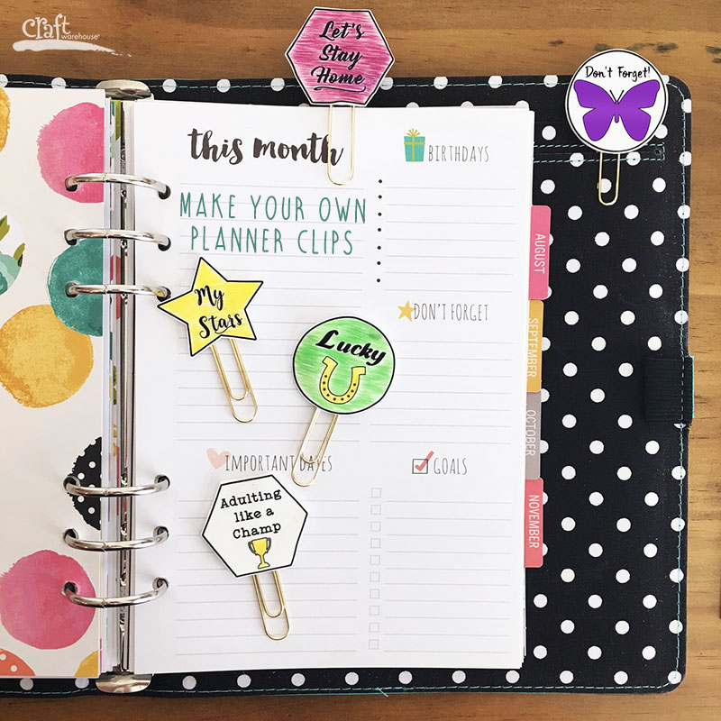 Make your own Planner Clips