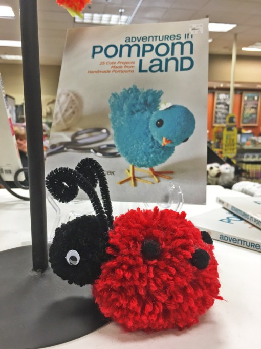 Pom Pom Ladybug made at Craft Warehouse