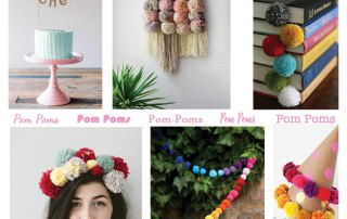 Pom Poms work in all kinds of ways at Craft Warehouse