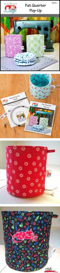 Make these Fabric Pop-Ups. Pattern available at Craft Warehouse