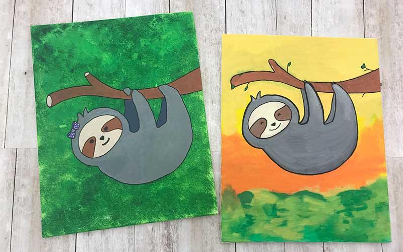 Posca Sloth Painting