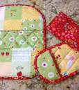 Pot Holders and Pinchers made with Riley Blake Sweet Orchard Fabric