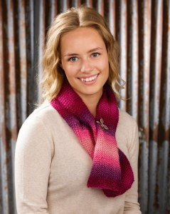 Scarf made from Mary Maxi Prism yarns