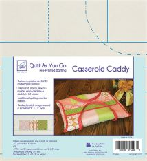 quilt-as-you-go pattern for a casserole cozy
