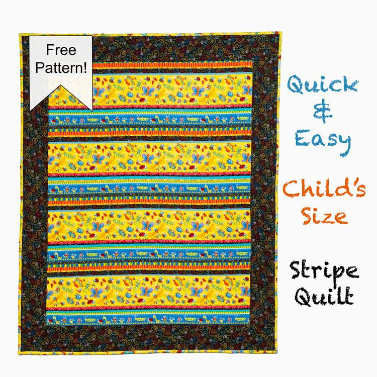 Easy and Quick Strip Quilt Pattern from Craft Warehouse