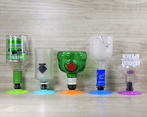 Make Goblets from recycled bottles