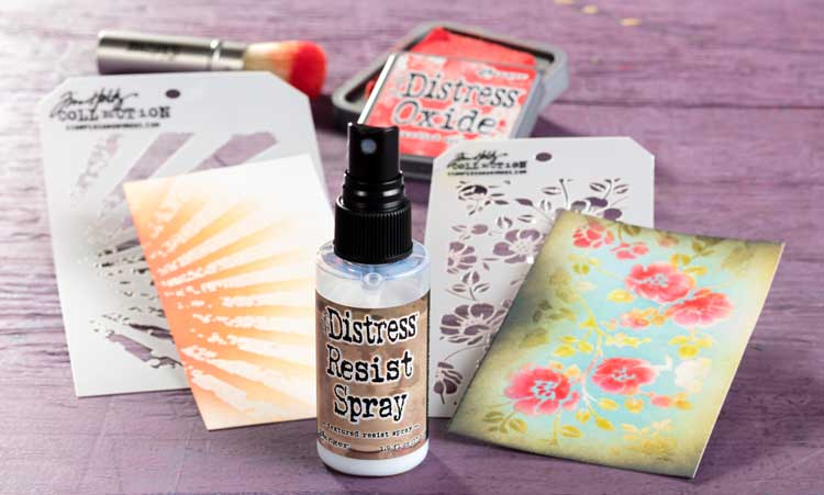 Tool Test Drive: Tim Holtz Distress Resist Spray @ Hazel Dell Location | Vancouver | Washington | United States