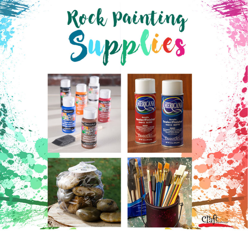 Rock Painting Supplies for hiding rocks at Craft Warehosue