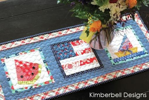 Summer Table Runner Paper Piecing from KimberBell Paper Piecing Throughout the Year