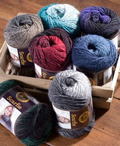 Make a beautiful scarf with Scarfie yarn from Craft Warehouse