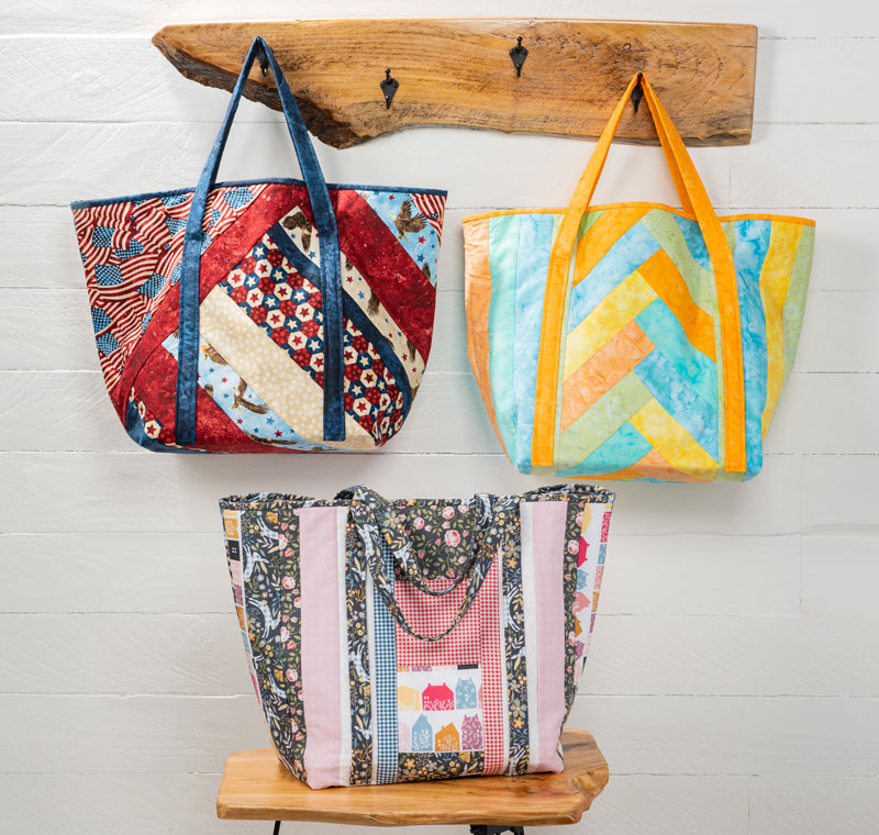 Sew these Utility Shopper Totes by June Tailor Quilt as you go