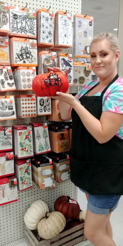 No carve pumpkin decorating at Craft Warehouse