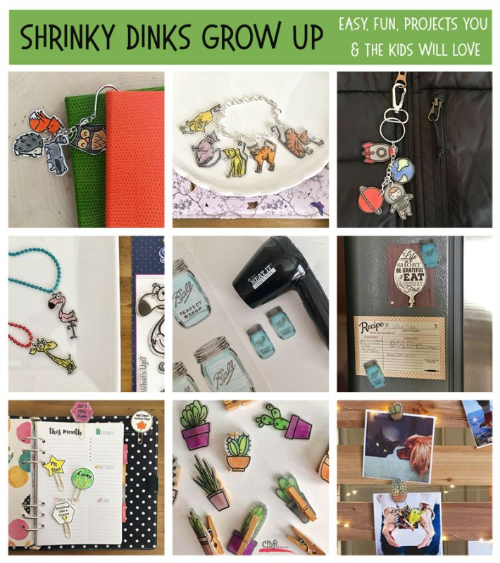 Shrinky Dinks Grow Up - Cool New Shrinky Dink Projects