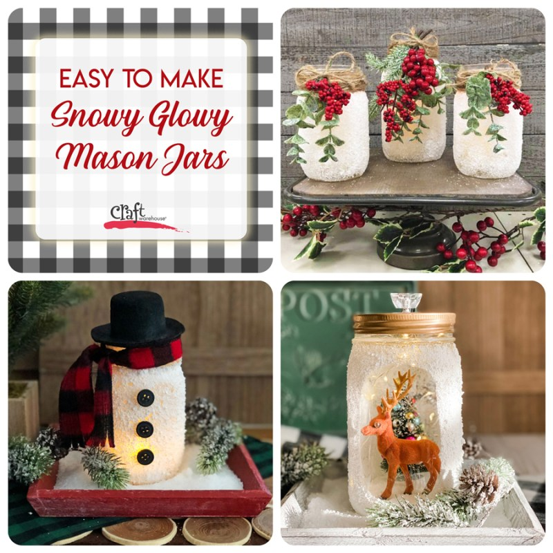 Snowy Glowy Mason Jar