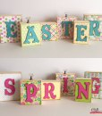 Spring Easter Wood Block Word Display