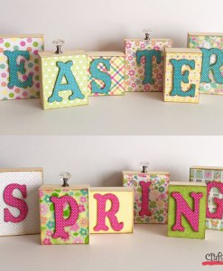 Spring Easter Wood Block Word Display at Craft Warehouse