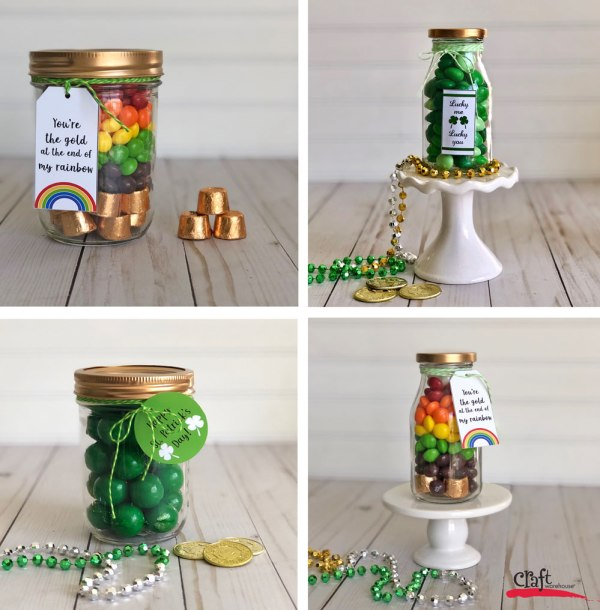 St Patricks Day Mason Jars