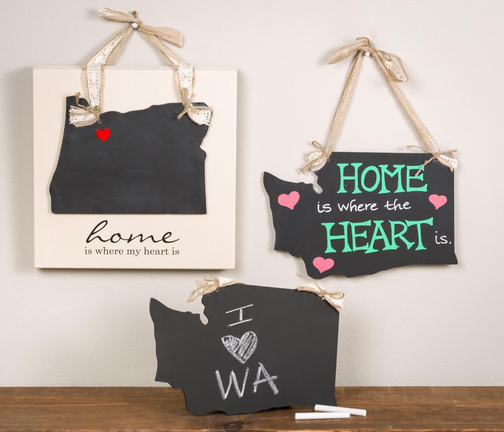 home state chalkboard art craft warehouse. Black Bedroom Furniture Sets. Home Design Ideas