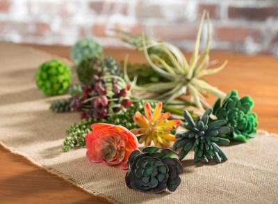 faux succulents indoor decor