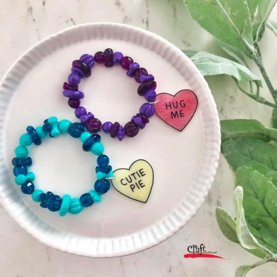 Make Sweetheart Cutie Bracelets with Shrinky Dink
