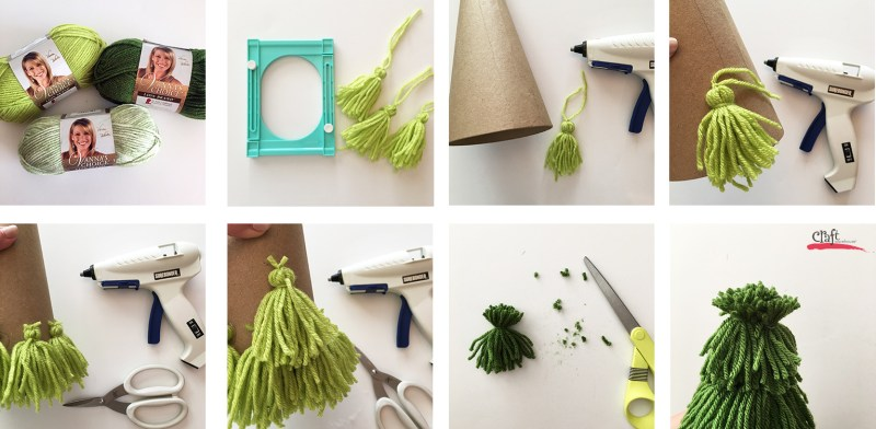 How to Make Tassel Yarn Trees