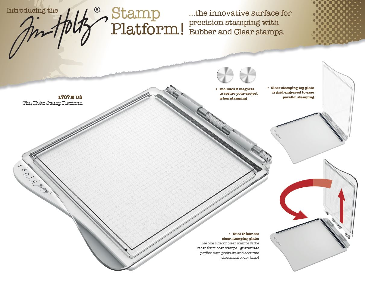 All about Tim Holtz Stamping Platform
