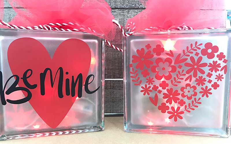 Valentines Glass Block
